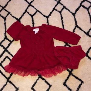 Cat & Jack Newborn Cable Knit Sweater Tutu Dress